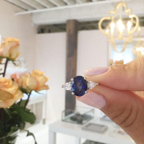 Custom Project: Sapphire Engagement Ring