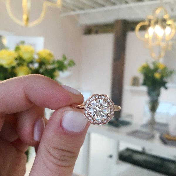 Custom Project: Octagon Engagement Ring
